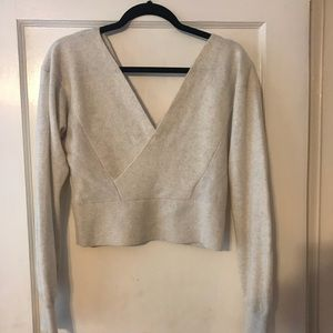 Club Monaco deep V 100% cashmere sweater